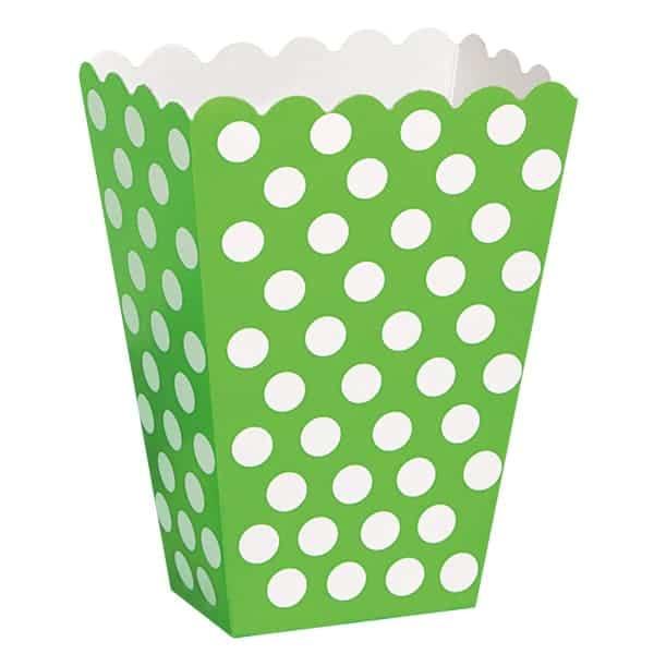 Verde Lima Puntos Decorativos Cajas de Tratar