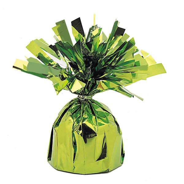 Peso para globo de foil verde lima - Unidad