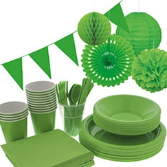 Suministros de fiesta verde lima