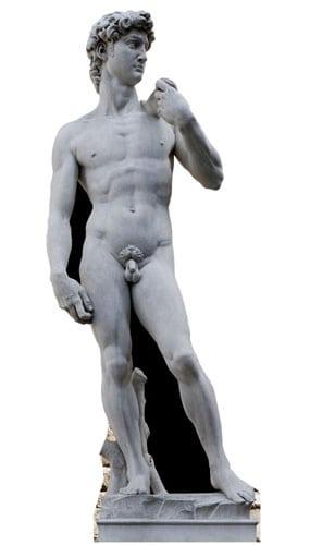 El David de Miguelangel - Figura de cartón a tamaño real