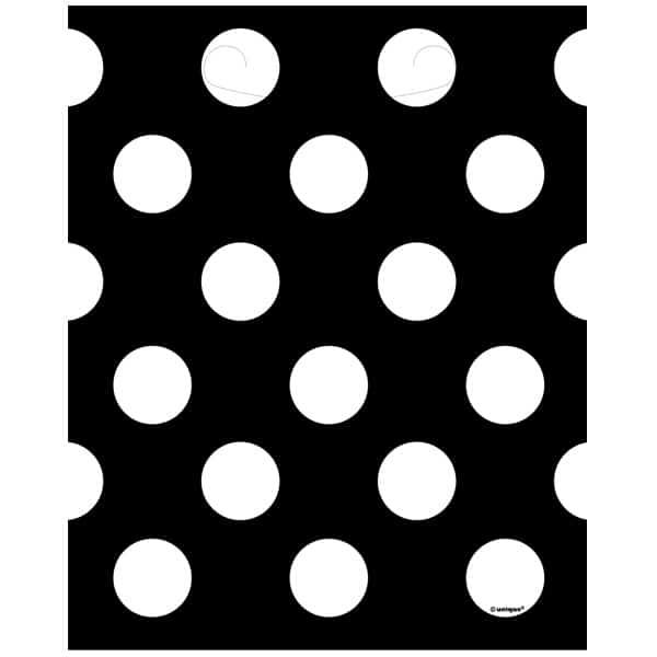 Medianoche Negro Puntos Decorativos Botín Bolsas - Paquete De 8