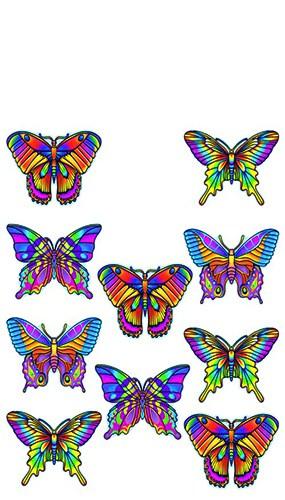 Figuras de pequeñas mariposas - Un paquete de 10