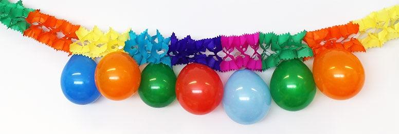 Multi-Color Guirnalda Con 10 Globos Colgantes