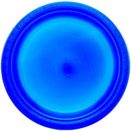 Platos De Plástico Redondos Azul Verdadero 23Cm - Paquete De 20