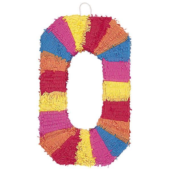 piñata En Forma de Numero 0
