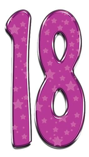Número 18 - Figura de cartón a tamaño real