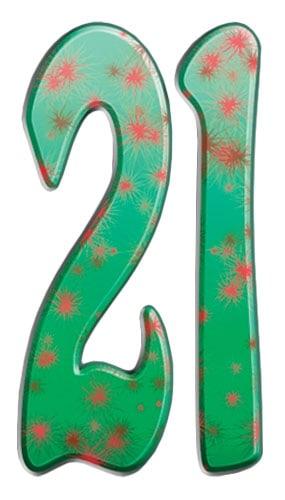 Número 21 - Figura de cartón a tamaño real