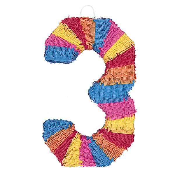 Piñata En Forma de Número 3