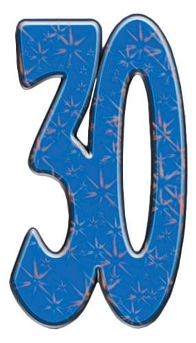 Número 30 - Figura de cartón a tamaño real