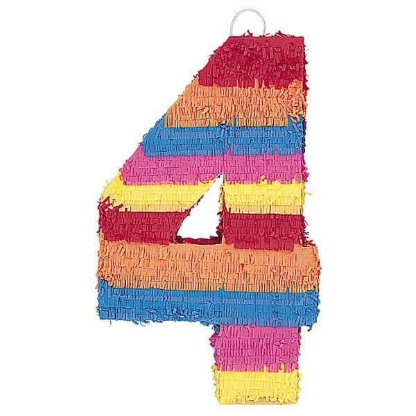 Piñata En Forma de Número 4