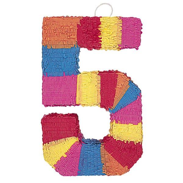 Piñata En Forma de Número 5