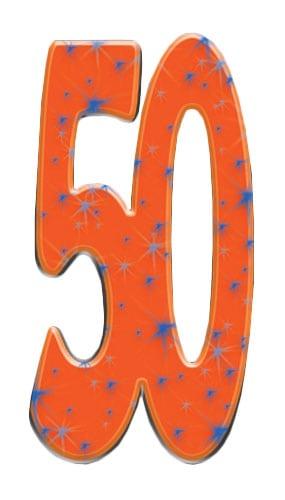 Número 50 - Figura de cartón a tamaño real
