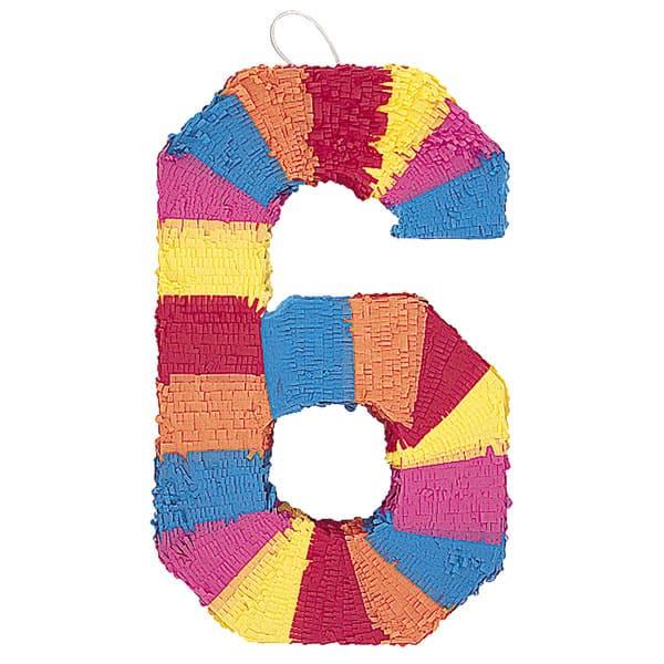 Piñata En Forma de Número 6