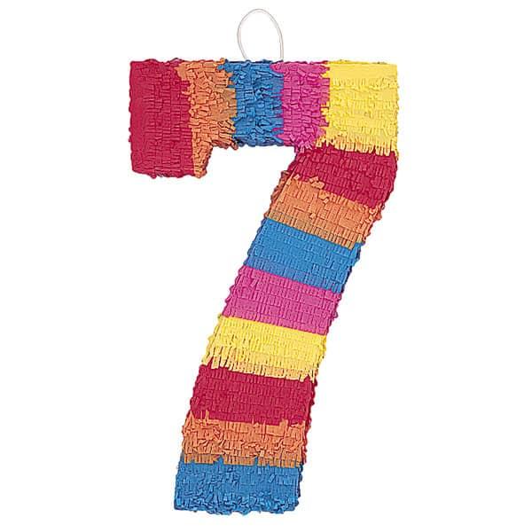 Piñata En Forma de Número 7