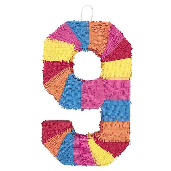 Piñata En Forma de Número 9