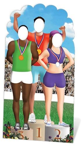 Juegos Olímpicos de soporte del podium en la Figura de cartón