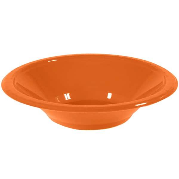 Bol De Plástico Naranja Para Fiestas 355ml - Unidad