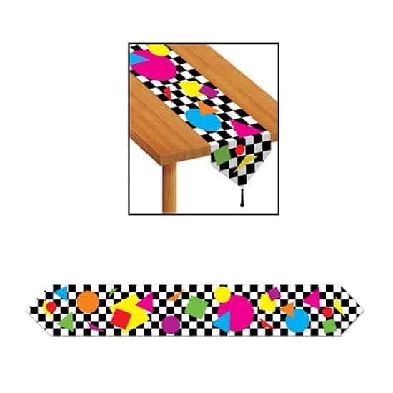Formas de Fiesta Camino de Mesa Plástico - Unidad
