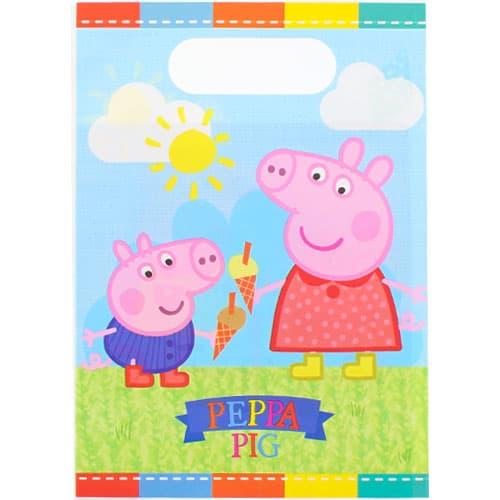Peppa Pig Tema Bolsas de Regalos - Pack de 8