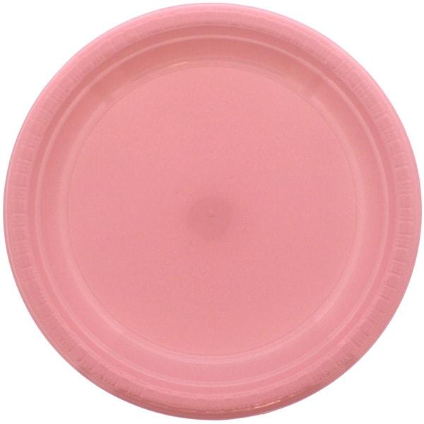 Plato De Plástico Rosado 23cm - Unidad