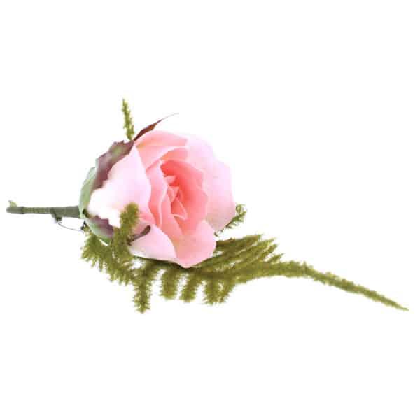 Ojal en forma de Rosa Rosada y Marfil