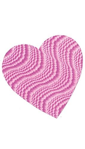 Corazón Rosa Foil en Relieve - 23 cm