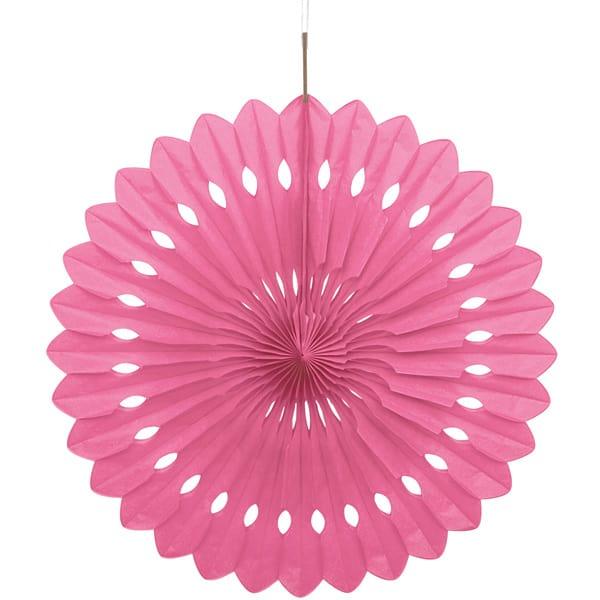 Abanico Rosa Nido de Abeja Colgante Decorativo
