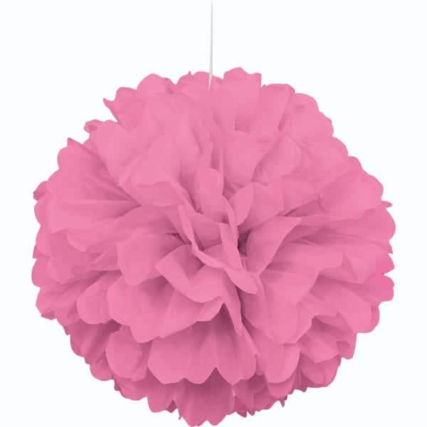 Rosa Colgante Decorativo de Panal Bola de Puff