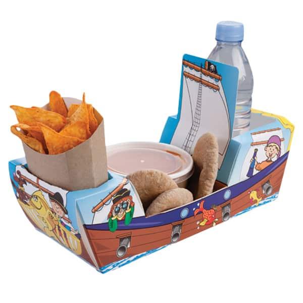 Caja Para Comida Galeón Pirata - Unidad