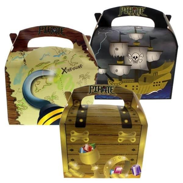 Caja De Fiesta Pirata - Suministrada En Variedad De Diseños - Unidad