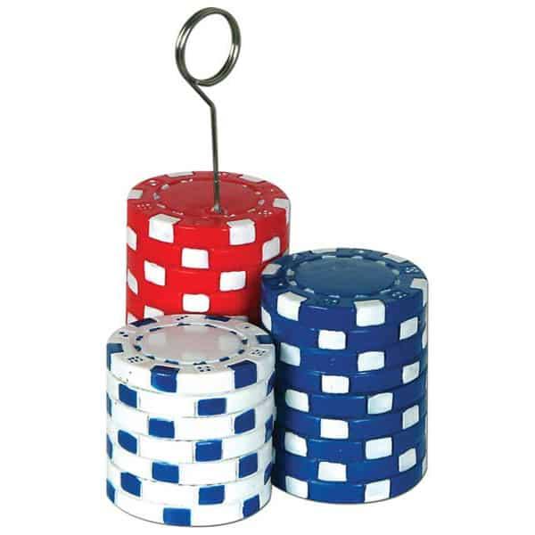 Chips de Póker sostén de globos - Sostén de foto
