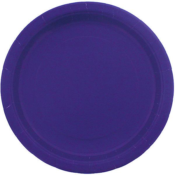 Platos De Papel Redondos Violetas 22Cm - Paquete De 16