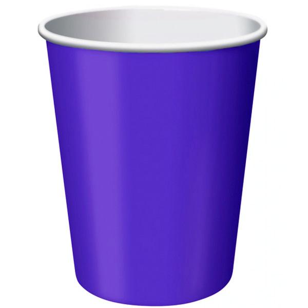 Púrpura 270 Ml Vaso De Papel