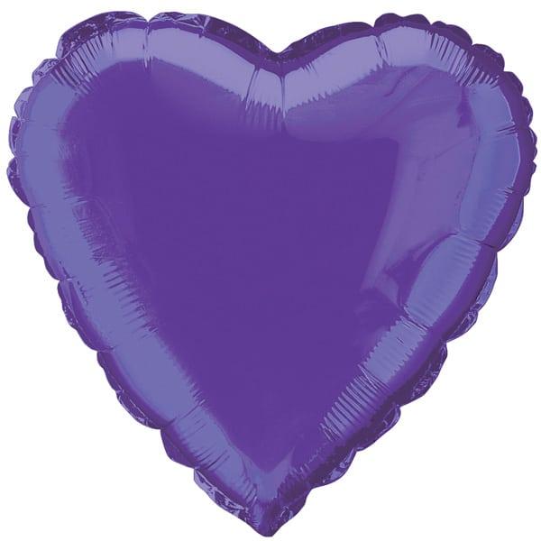 Globo Foil Corazón Morado 45 cm