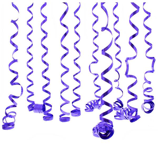 Serpentinas Prismáticas Púrpura - 10 Lanzamientos