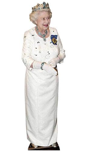 Reina Isabel II del apretón de manos 172cm Tamaño real Figura de cartón