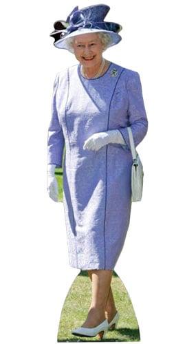 Reina Isabel Vestido Lila 156cm Tamaño real Figura de cartón