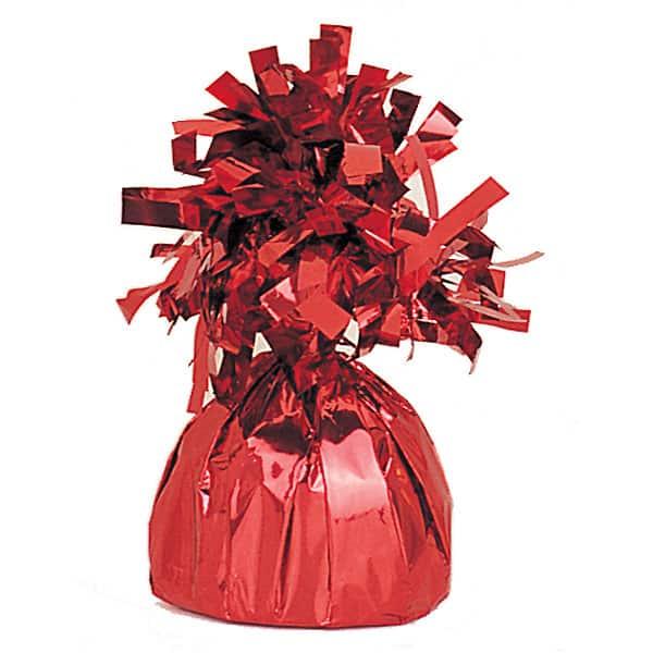 Peso para globo de foil rojo - Unidad
