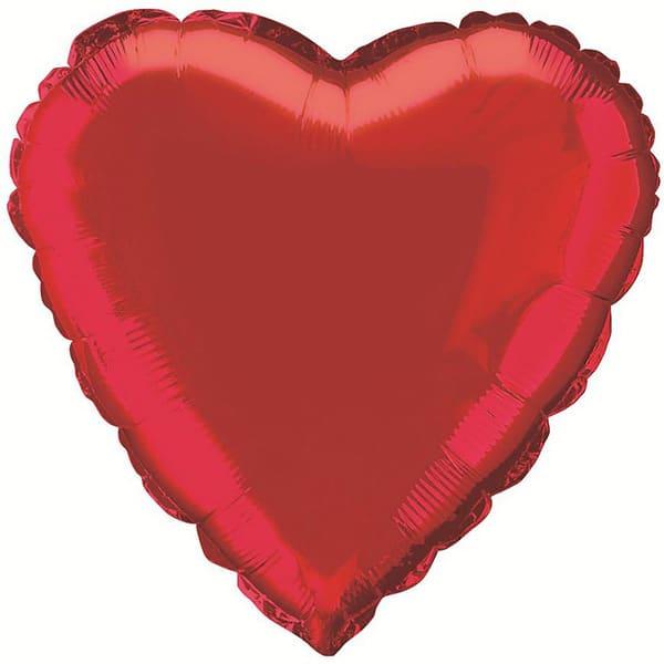 Globo Foil Corazón Rojo 45 cm
