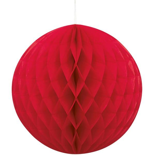 Rojo Nido de Abeja Bola de Colgante Decorativo