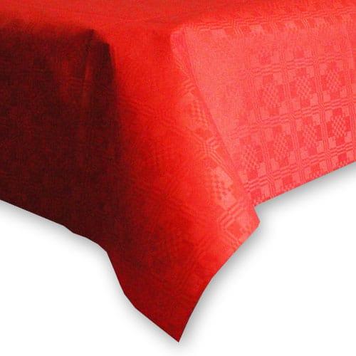 Mantel de Papel Rojo (1 Unidad) 90 x 90 cm