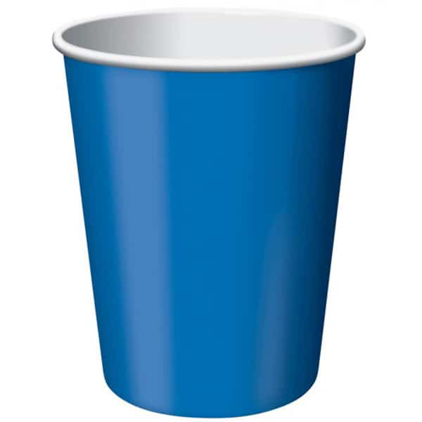 Azul Real Taza De Papel 270Ml