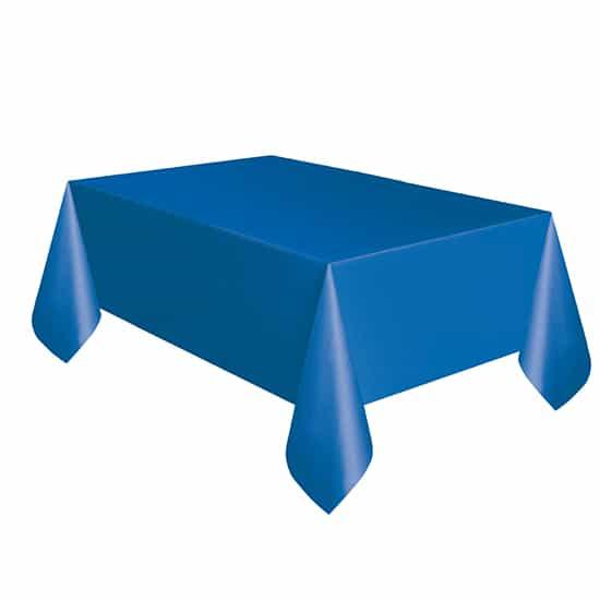 Mantel De Plástico Azul Real 274Cm X 137Cm