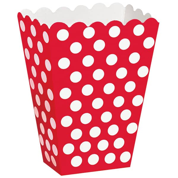 Rojo Rubí Puntos Decorativos Cajas de Tratar