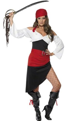 Sassy Pirata Wench Fantasía Vestir Disfraz - Ladies Small Tamaño