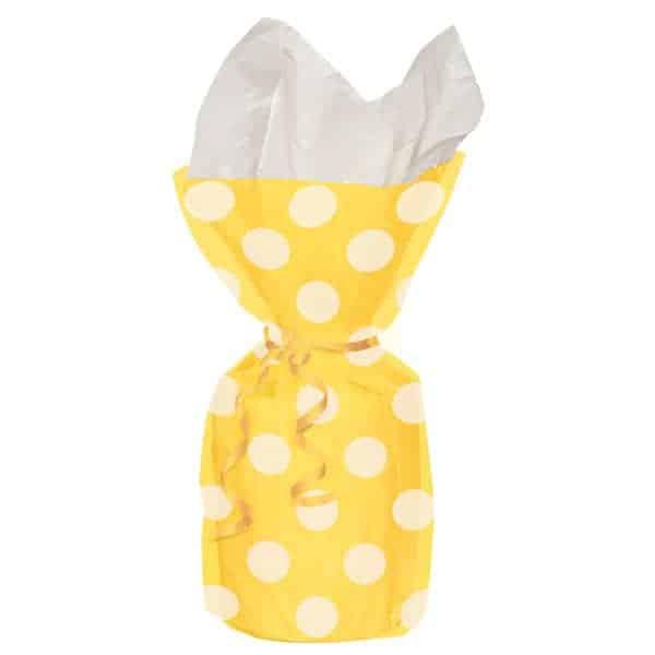 Girasol Amarillo Puntos Decorativos Bolsas de Regalo