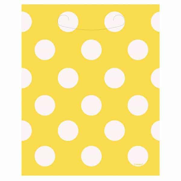 Girasol Amarillo Puntos Decorativos Botín Bolsas - Paquete De 8
