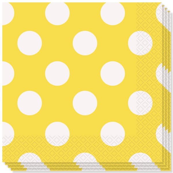 Girasol Amarillo Puntos Decorativos Servilletas Almuerzo