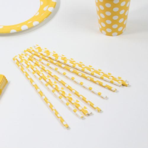Girasol Amarillo Puntos Decorativos Pajitas de Papel