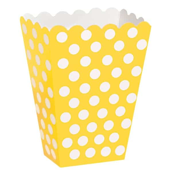 Girasol Amarillo Puntos Decorativos Cajas de Tratar